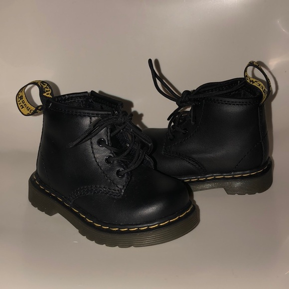 e14441ad4 Dr. Martens Shoes | Dr Martens Black Leather Baby Boots Size 4 ...